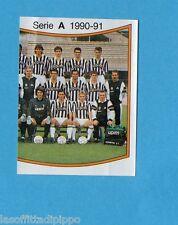 PANINI CALCIATORI 1990/91-Figurina n.156- SQUADRA DX - JUVENTUS -Rec
