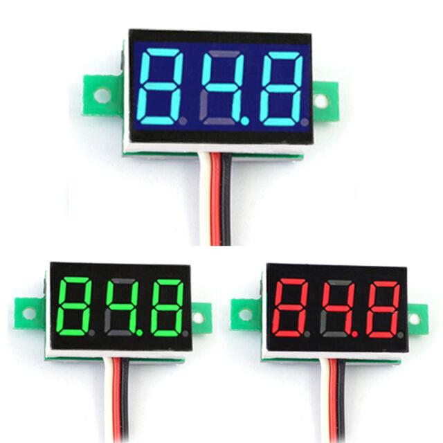 Mini DC 0-100V LED 3-Digital Display Voltage Voltmeter Panel Meter with 3 Wires