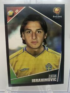2004-Panini-UEFA-Euro-ZLATAN-IBRAHIMOVIC-Rookie-Sticker-197-Sweden