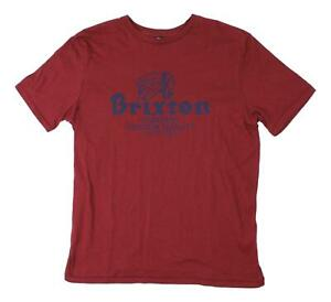Brixton-Mens-Tanka-Premium-Fit-Short-Sleeve-T-Shirt-Burgundy-M-New