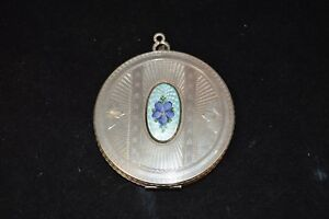 Vintage-FM-Co-Blue-Guilloche-and-Floral-Enameled-Compact