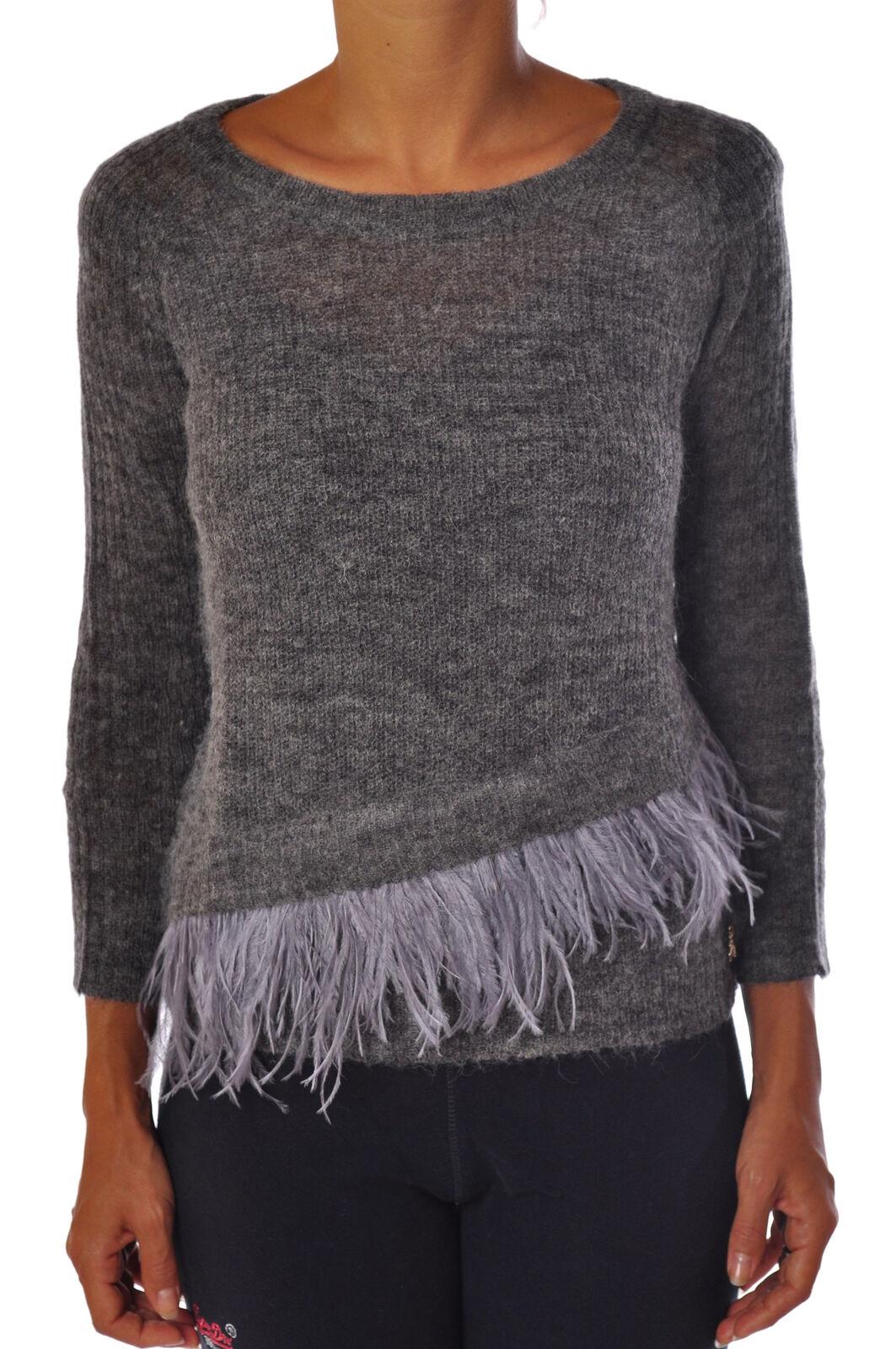 Patrizia Pepe - Knitwear-Sweaters - Woman - Grau - 961618C183533