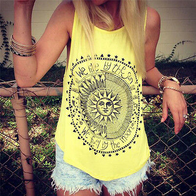 Women Summer Vest Top Sleeveless Fashion  Blouse Casual Tank Tops T-Shirt NEW
