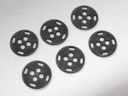 10 Pièce De Métal Boutons Boutons Bouton 13 MM noir métal article Neuf Inoxydable #964#