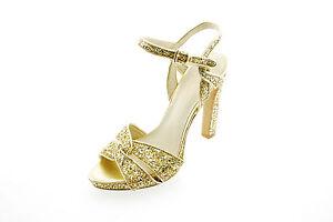 27b94a0c5e20 Nine West Hotlist Women s Gold Glitter Dress Sandal Pumps Heels ...