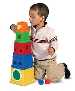 Melissa and Doug Stacking Blocks Learning Toy #9170 BRAND NEW