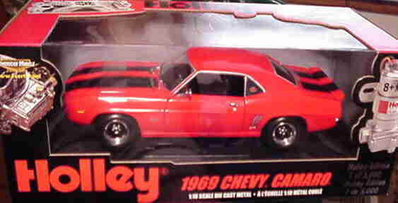 1969 Chevrolet Camaro SS rosso Holley 1:18 Ertl American Muscle 33443