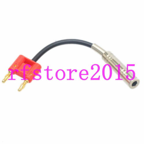 """Cable L-2T2S 6.35mm 1//4/"""" female TRS to dual banana plug Speaker Audio 4/""""~40/"""""""