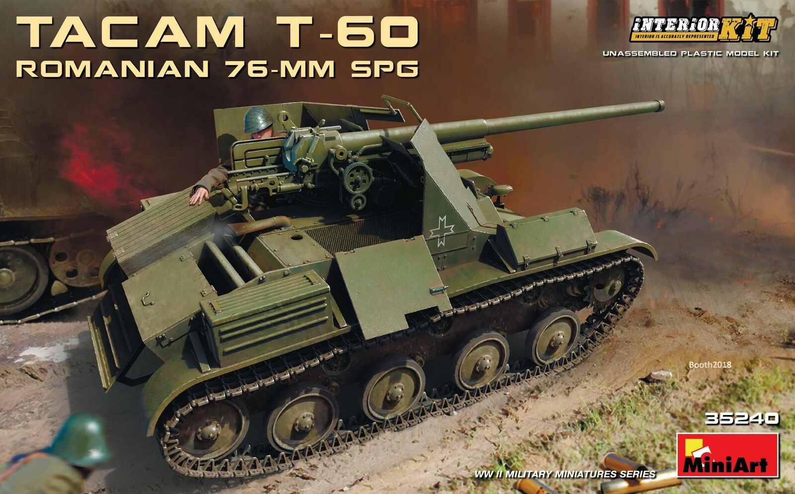 Miniart 1 35 Romanian 76mm SPG Tacam T-60 Interior Kit