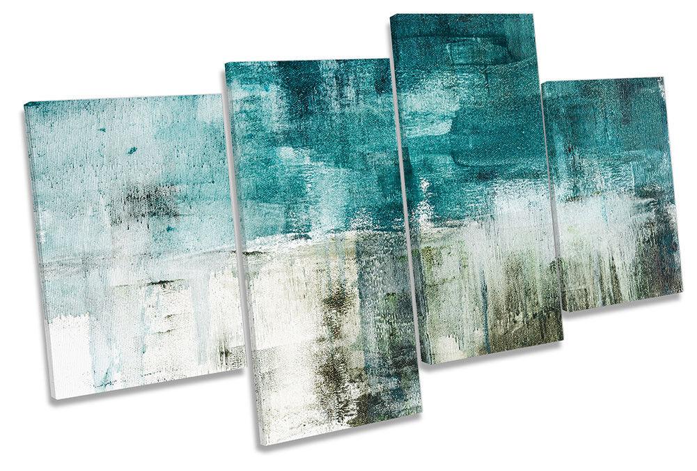 Grunge Teal grau Abstract MULTI CANVAS Wand KunstWORK Drucken Kunst
