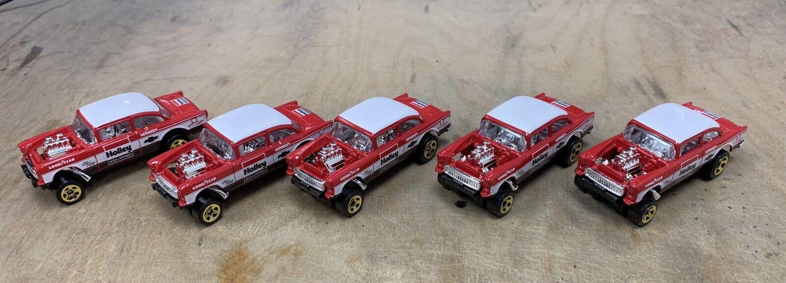 Hot Wheels New 2019 Chevy Gasser Exclusive Unspun Unrivet Loose lot of 5