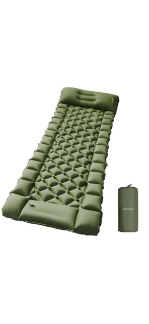 FRETREE Camping Air Sleeping Pad Mat - Foot Press Inflatable Lightweight
