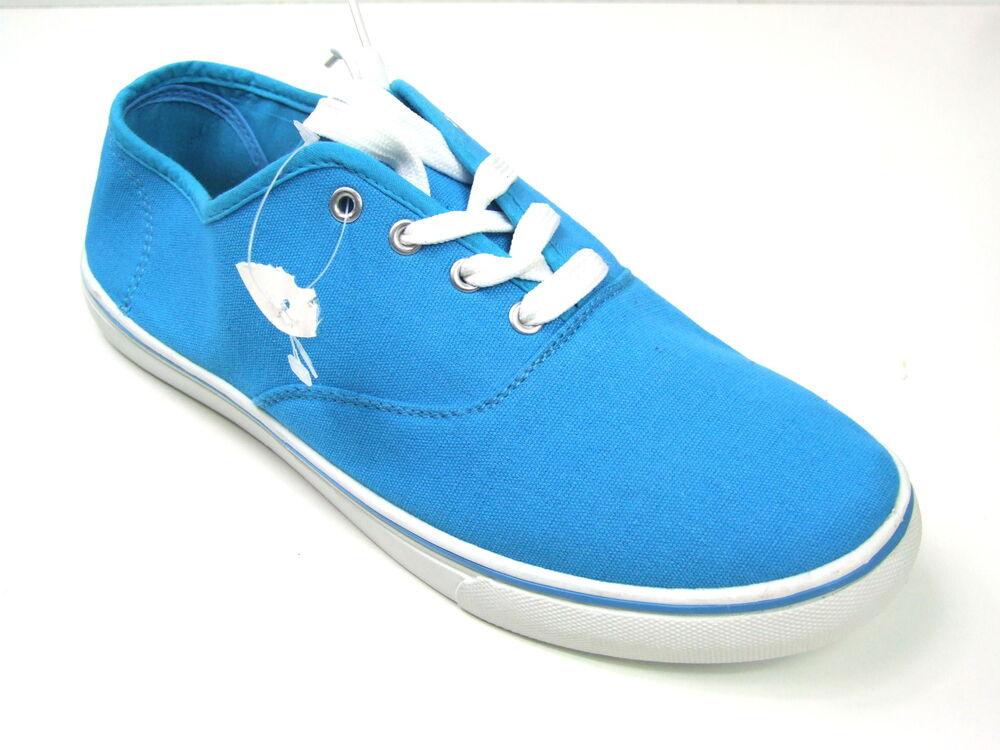 Homme Bleu Ciel Noir Plates à Lacets Escarpins Summers Plimsoll Toile Chaussures