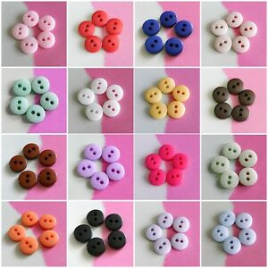 30-Micro-Small-Mini-Doll-Petit-Tiny-Craft-Sewing-Shiny-Buttons-7mm-Multi-Colors