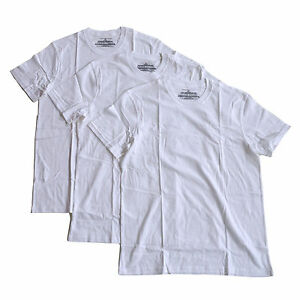Tommy-Hilfiger-Mens-3-Pack-Undershirts-Crew-Neck-T-shirt-Solid-White-Tee-New
