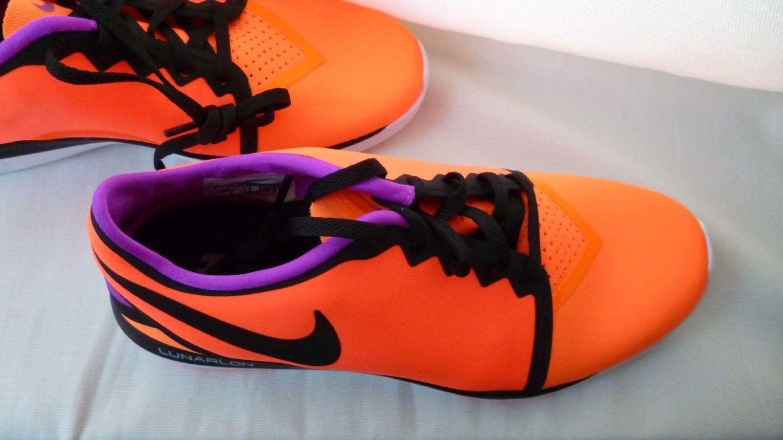 Sneaker Turnschuhe   NIKE   LUNARLON  orange/lila/schwarz   Gr.36,5  orange/lila/schwarz    23cm  NEU d4827b