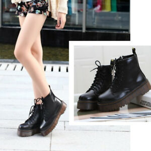 Women-039-s-Motorcycle-Punk-Martin-Boots-Platform-Ankle-Boots-Autumn-Winter-Shoes