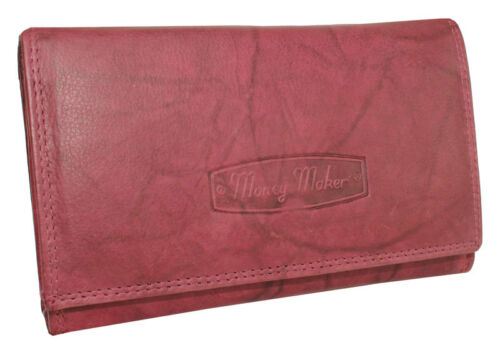 Donna di alta qualità Portafoglio in pelle portafoglio portamonete molti colori XL