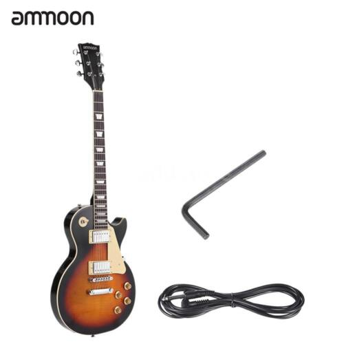 ammoon Electric Guitar 6 String 23 Frets Basswood Body Dual-coil Pickup US V1Y5