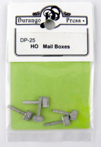5 pcs Durango Press #DP-25 HO Scale Mail Boxes