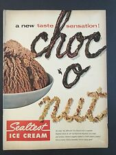 1954 Vintage Ad for Sealtest Ice Cream Choc O Nut