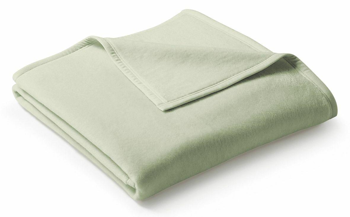 Bocasa Wohndecke Uno Cotton, Farbe salbei, Gr. 150x200 cm