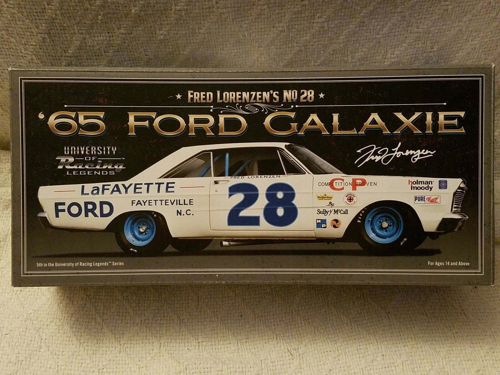 1 24 F. LORENZEN  28 1965 FORD GALAXIE UNIVERSITY OF RACING LEGENDS AUTOGRAPHED