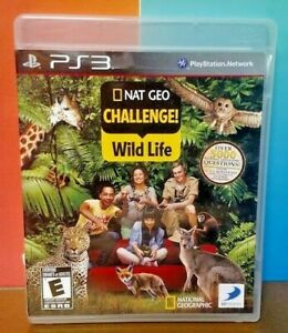 Nat-Geo-Challenge-Wild-Life-Sony-PlayStation-3-PS3-Game-COMPLETE-w-Manual