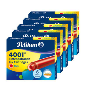 Pelikan-Fountain-Pen-Ink-Cartridges-short-Red-Pack-of-30