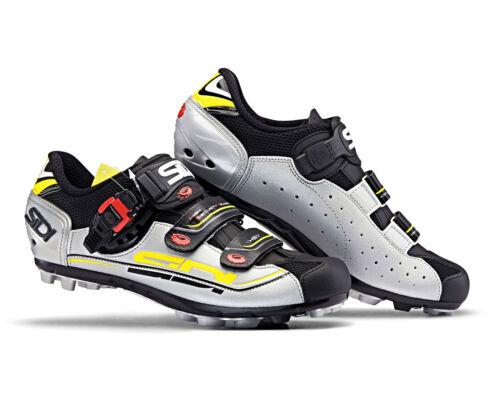 SIDI Eagle 7 MTB Cycling Shoes Black//Silver//Yellow