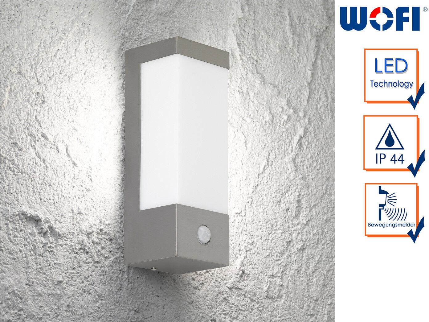 acquista online oggi In Acciaio Inox LED Lampada muro esterno esterno esterno con rilevatore di movimento 7 Watt illuminazione Facciata  risparmia il 60% di sconto