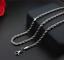 feine-Silberkette-duenne-2MM-Kordelkette-50cm-Edelstahl-Panzerkette-Damen-Herren Indexbild 1
