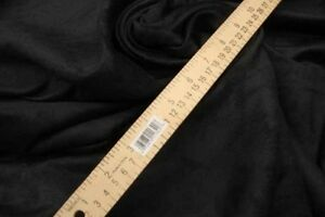 upholstery-Suede-Micro-faux-58-034-wide-Black-Polyester-Drapery-Fabric-by-the-yard