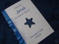 HANDMADE PERSONALISED PAGE BOY THANK YOU CARD RING BEARER USHER GODFATHER CARD