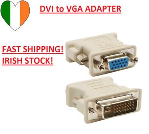DVI Male 24+5 24+1 Pin to VGA Female Video Converter Adapter Plug for DVD HDTV