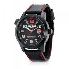 Orologio Uomo SECTOR OVERSIZE R3251102325 Pelle Nero Rosso Sub 100mt