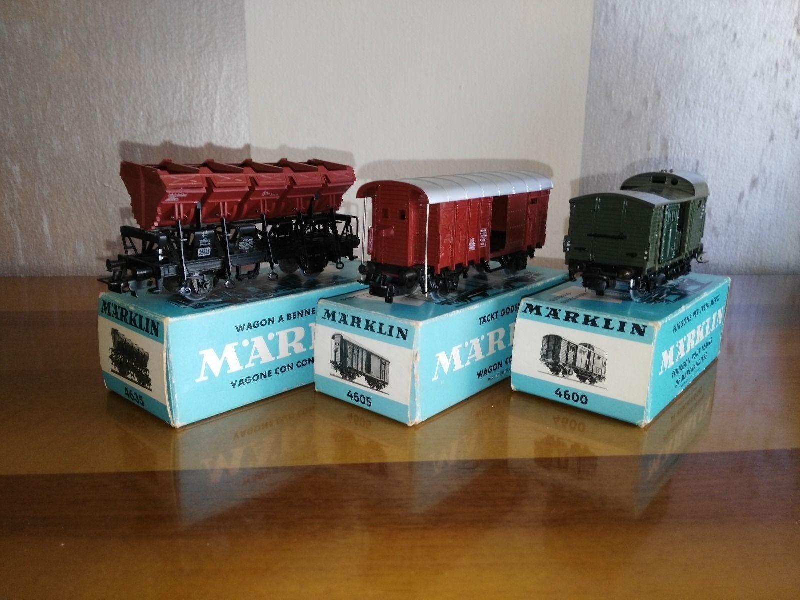 Marklin 4600 - 4605 - 4635 carri merci