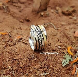 Solid-925-Sterling-Silver-Spinner-Ring-Meditation-Ring-Statement-Ring-1042