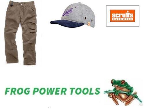 Scruffs Worker Trouser 36W 32L active fit workwear trousers free bump cap