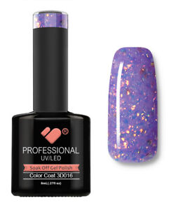 3D-016-VB-Line-Purple-Gold-Glitter-UV-LED-soak-off-gel-nail-polish
