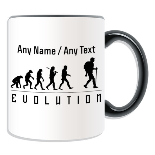 Personalised Gift Hiking Mug Money Box Cup Evolution Design Team Player Name Tea