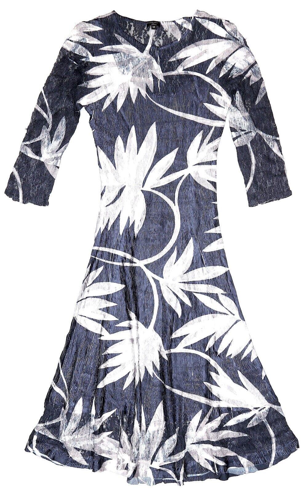 Komarov Womens Multi color Charmeuse Lace A Line Dress Sz M 3454