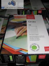 100x ELCO Organisationsmappen Ordo mit Sichtfenster weiß Mappe Ordnen 22x310mm