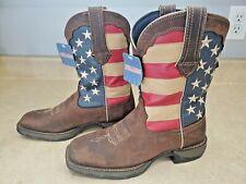 "Durango RD4414 10/"" Lady Rebel Patriotic American Flag Cowgirl Western Boots"