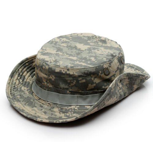 Mens Camouflage Tactical Cap Outdoor Sports Bucket Fishing Hiking Hunting Hat 03