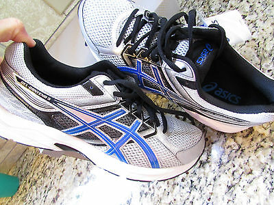 NEW ASICS GEL CONTEND 3 SHOES MENS 9.5 T5F4N SILVER BLUE FREE SHIP