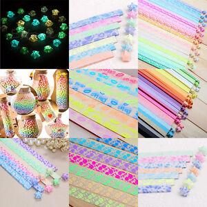 300 Strips Lucky Wish Star Folding Paper Love Ribbon Origami Glow In the Dark