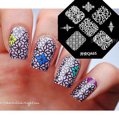 Nail Art Schablone Plates Stamping Nagel Tattoo Stamp Stempel Motive Image QA65