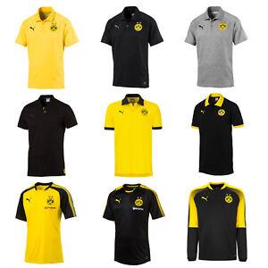PUMA Herren T Shirt BVB Premium Stencil Polo: