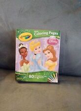 CRAYOLA DISNEY PRINCESS 80 MINI COLORING PAGES WITH 6 MARKERS